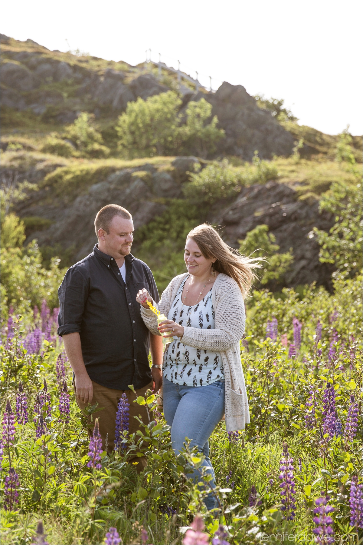 Signal Hill Engagement Session Lupin Engagement Session Best St John's Newfoundland Wedding Photographer7